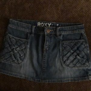 Roxy denim mini skirt